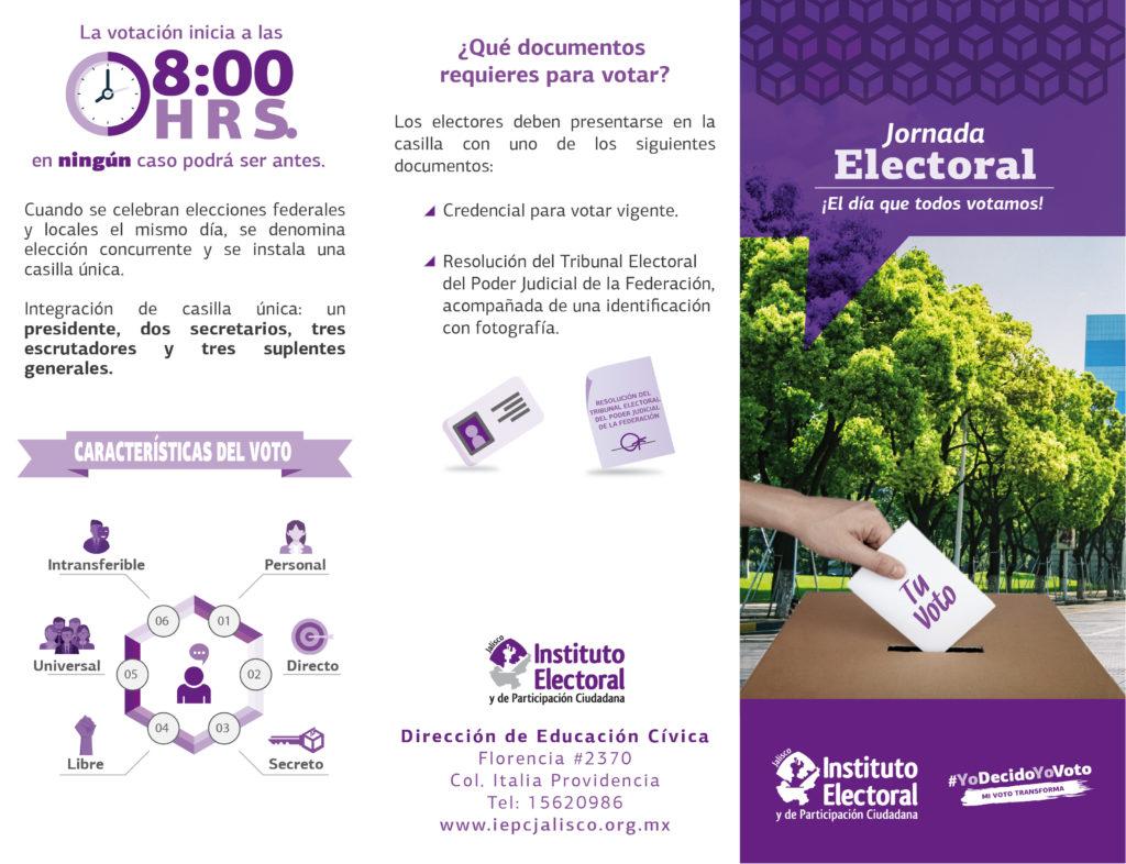 Tríptico Jornada Electoral - Exterior
